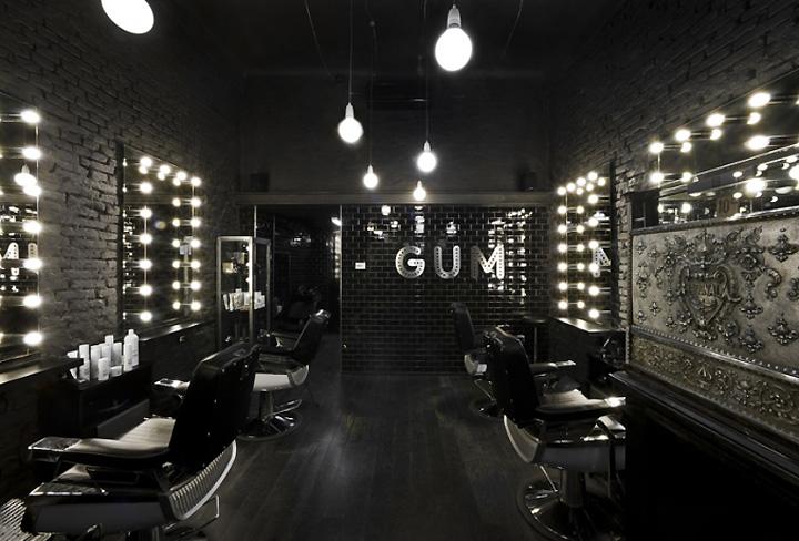 Exemplo para decorar um cabeleireiro Gum-hair-salon-Milan