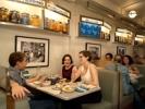 A música ambiente nos restaurantes