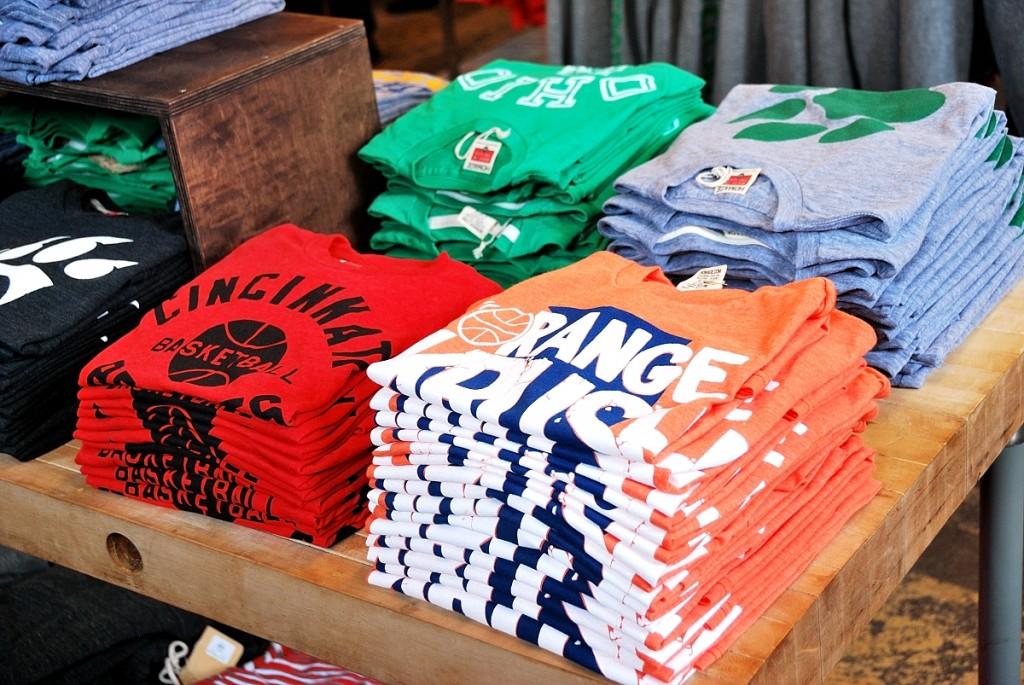 T-shirts estampadas em serigrafia