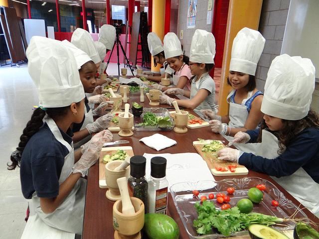 crianças chefs