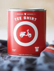 Ideia para uma embalagem de t-shirts