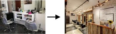 como transformar cabeleireiro ou salão de beleza antes depois