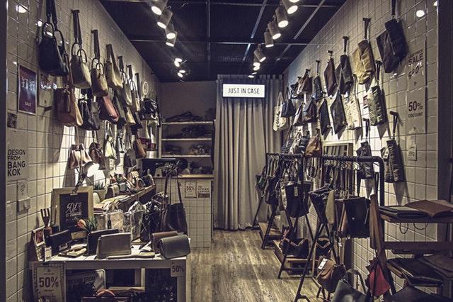 ideias para lojas de roupa - loja de acessório de moda