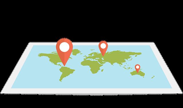 pensar em grande para o seu negócio - mapa mundo