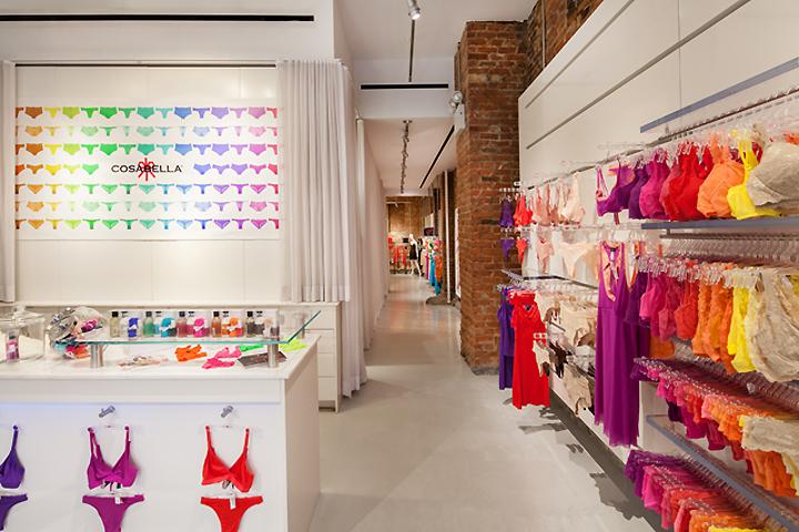 decoração de lojas de lingerie - exemplo de demonstração de cores